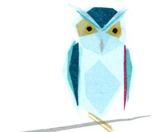 Omar Owl - Owl Art Print, Owl Decor, Bird Art, Animal Art Print