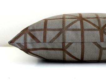 Blue Brown Pillow Cover Geometric Upholstery Fabric Decorative Pillow Throw Pillow Cover Euro Sham 26x26 24x24 22x22 20x20 18x18 16x16