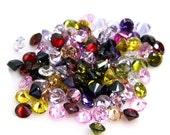 3mm Round CZ Multi Color Mix Cubic Zirconia Loose Stones Lot