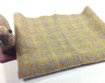 Rug Hooking Fabric, Fat Quarter Yard, Leafy Green Check, J704