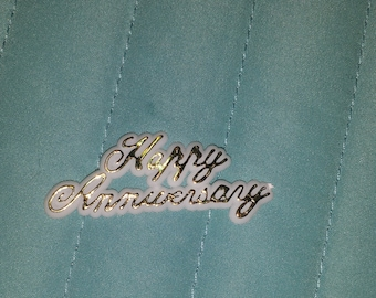 25  happy anniversary plastic charms  for favors /capias