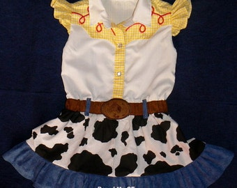 Jessie inspired dress. Toy Story. Cowgirl  Birthday Party  Halloween costume