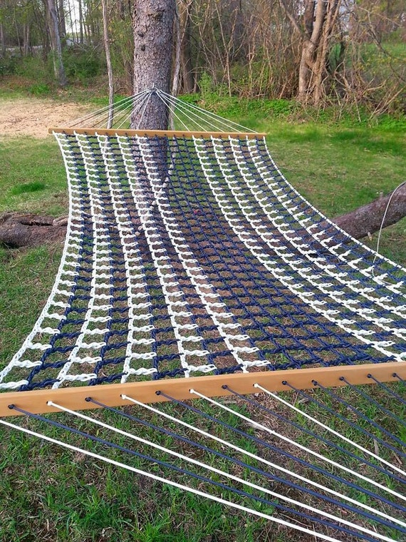 navy white nautical paracord hammock by lackadaisyhammocks