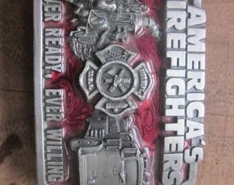 firefighters belt buckle, siski you belt buckle 1983 firemans buckle