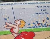Vintage Our Gang Gum Puzzle No. 8.   Ephemera.  Y-179