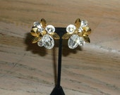 Vintage Rhinestone Earrings Glam Bridal Party Jewelry Wedding Jewellry Holiday Special Occasion Gift for Her Birthday Christmas