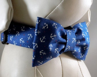 Dog Collar Set with Flower or Bow Tie - Pick Any Fabric in Shop
