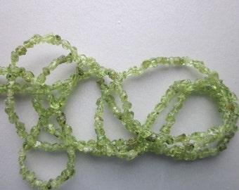 Green Peridot Chip Beads 3-4mm 40 Beads