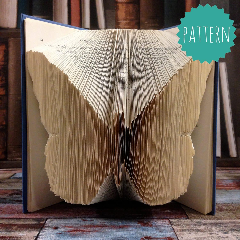 folded book art butterfly pattern u0026 tutorial gift home