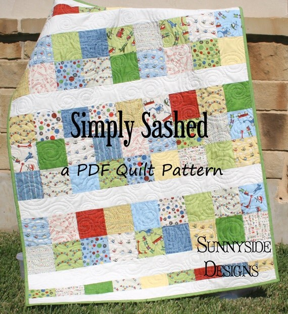 Pdf quilt pattern simply sashed charm pack precuts simple for Simply simple