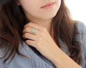 Large silver labradorite ring, Sterling labradorite ring, Labradorite statement ring