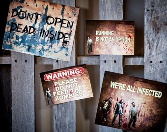 Zombie Party - Printable Decorations - PERSONALIZED SET