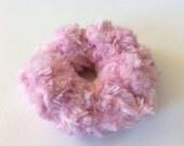 Feathery Scrunchie (Pink) - Handmade Scrunchie