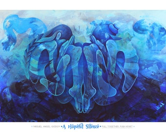 Yoga, Vishuddha, Throat, Chakra, Communication, Blue, Spirit, Sanskrit, Yogi, Namaste, Nude, Figurative, Painting, Art, Abstract, Spraypaint