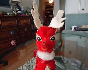 Make me an Offer! Cute Vintage Plush Cloth Reindeer