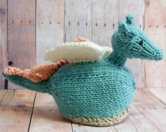 Dragon Stuffed Toy, Knit Dragon, Dragon Egg, Waldorf Dragon, Dragon Egg Nest, Dragon Stuffed Animal, Dragon Easter Egg, Dragon Nursery Decor
