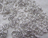 500pc. Iron Jump Rings 10mm, Necklace, Bracelet, Jewelery, Silver, Links, Unsoldered