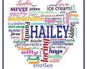 Personalized Word Art - Great Gift! Digital Download