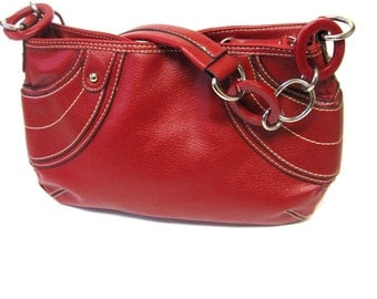 Richly Red Purse Handbag Shoulderbag New York & Co Chain Reaction