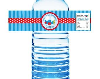 Air Plane Water Bottle Labels