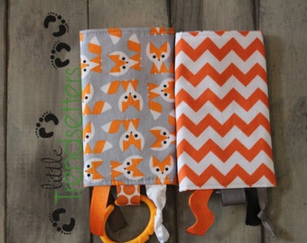 SSC Drool Pads- Foxes & Orange Chevron