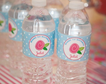 Floral Water Labels Printable - Shabby Chic Sweet Collection