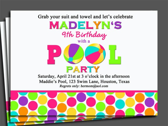 Swim Party Invitations for awesome invitation layout