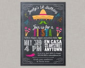 Fiesta Invitation, Fiesta Birthday Invitation, Fiesta Birthday Party for girls, Cinco de Mayo, Printable