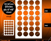 INSTANT DOWNLOAD 18 mm Circles TEMPLATE 148 Printable Bottle cap Accessories Jewelry Magnet Glass Resin Sticker Hangtags Print Your Own diy