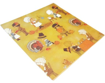 Vintage Wrapping Paper - Thanksgiving Joy - Full Sheet Thanksgiving Gift Wrap - Hallmark