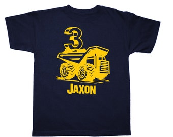 Birthday Construction Dump Truck Shirt Personalized - any name and age - pick your colors!