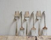 Vintage Alvin Silverplate Forks Set