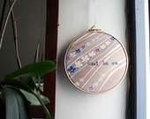 C'Est La Vie Embroidery / Hoop Art by Project Sarafan. Motivational Wall Hanging.