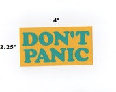 Don't Panic sticker - hitchiker's guide decal geek gift