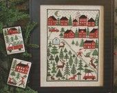 Christmas Tree Farm Book No. 198 : Prairie Schooler cross stitch patterns Santa Claus December Winter holidays reindeer hand embroidery