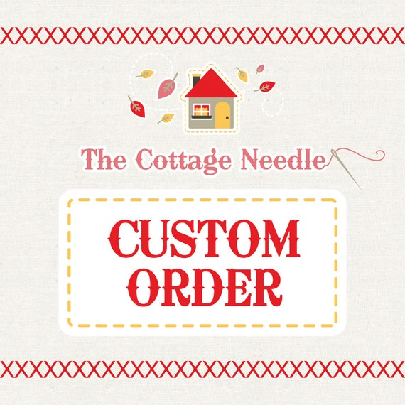 special custom order for Janis : counted cross stitch supplies embroidery