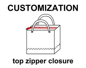 Zipper closure upgrade for your tote bag and backpack, unique customizaton