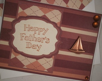 Sailboat Card, Handmade Father's Day Card, Happy Father's Day, Father's Day Card, Sailing