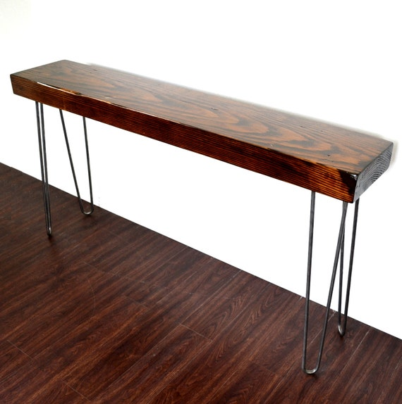Items similar to reserved for christopher 60 console for Sofa table leg height
