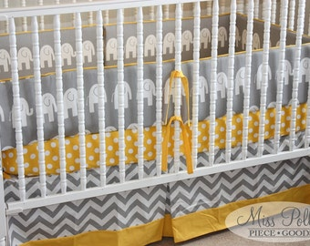Custom Baby Crib Bedding -Design Your Own - Add a border to a Crib Skirt, Valance or Drapes