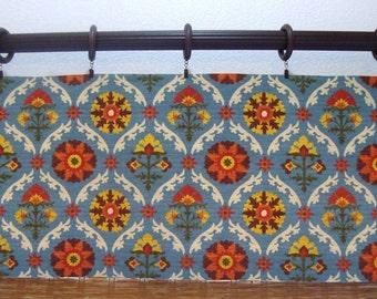Waverly Custom Curtain Valances Waverly Mayan Medallion Unlined Kitchen Curtains 52x12 52x14 52x16  52x18