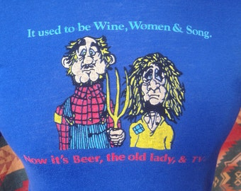 Vintage t shirt, wine, women, and song USA