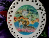 Llama Ornament   - Hills Alive with Llamas - hangs on Christmas tree or window from original batik