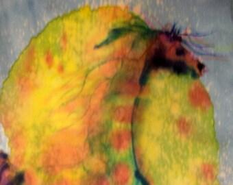 Sunlight Horse   - print from an original silk painting