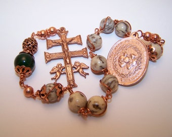 Unbreakable single Decade Rosary of The Sacred Hearts Of Jesus and Mary