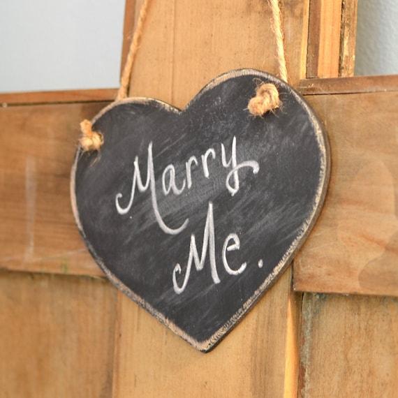 Mini Wooden Distressed Chalkboard Heart, Hanging, Wedding Decor