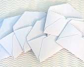 30 teeny tiny envelope note sets handmade available in 40 colors business card miniature mini guest book table number gift card holder