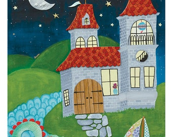 Large Print - whimsical castle kids room - by Paper Taxi