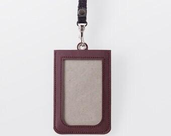 Washable Paper ID Badge Holder in Uluru Red