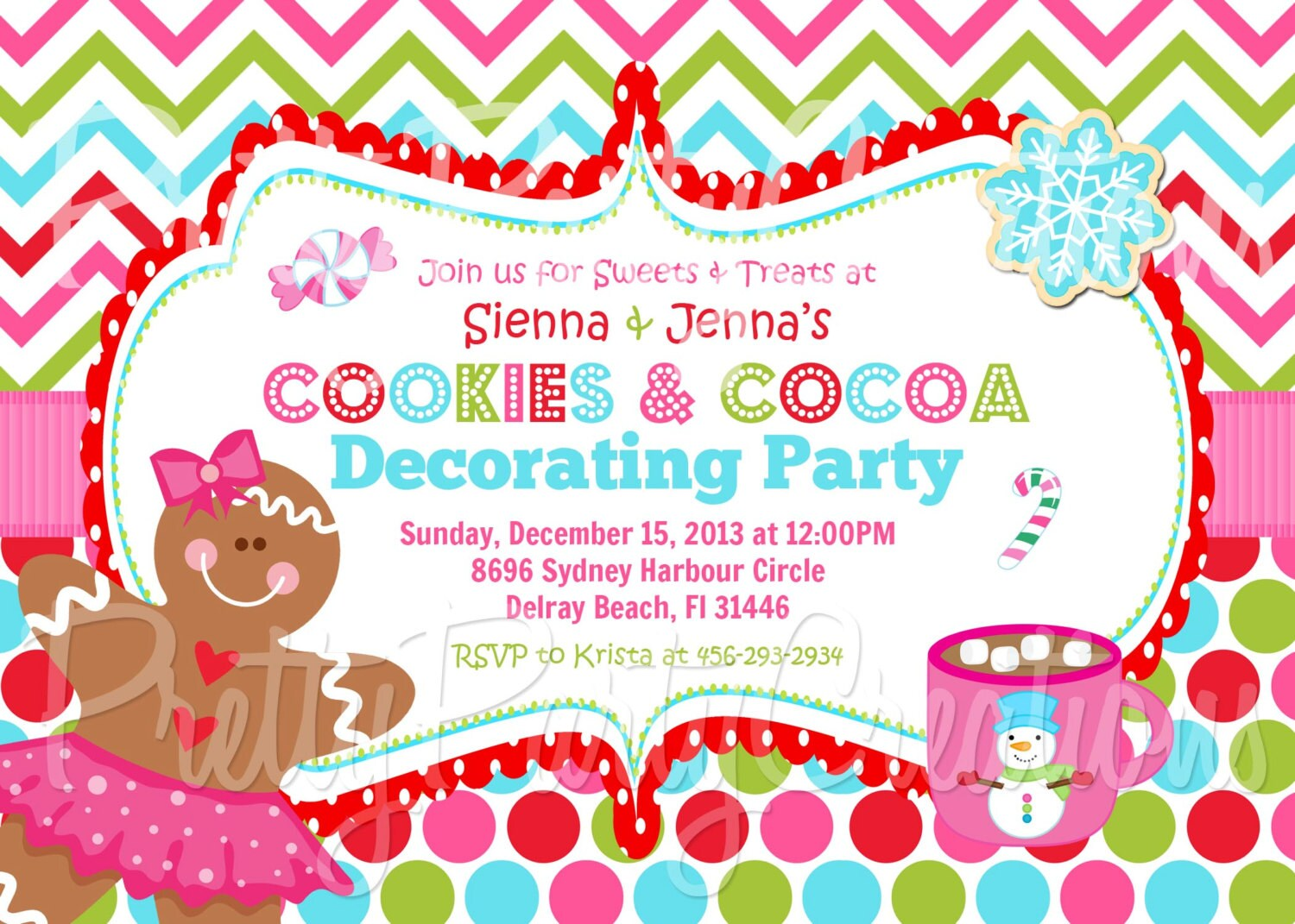 COOKIES and COCOA decorating party holiday by ...